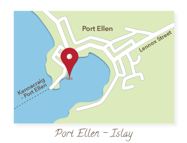 Port Ellen - Isle of Islay Map